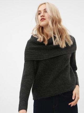 Tmavosivý sveter s prímesou vlny ONLY Bergen