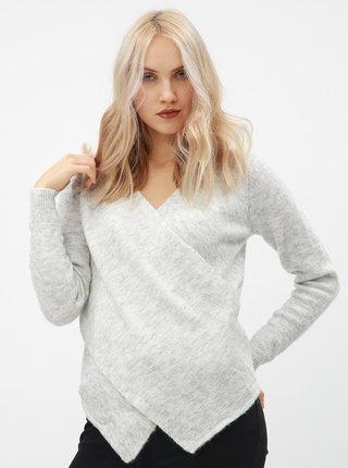 Svetlosivý sveter s prímesou mohéru VILA Cant
