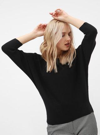 Černý žebrovaný svetr s netopýřími rukávy ONLY Vita