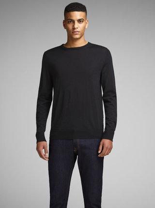 Čierny sveter z Merino vlny Jack & Jones Premium Mark