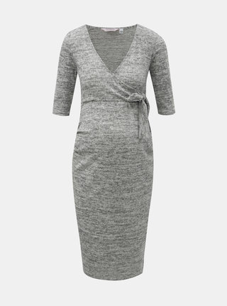 Šedé žíhané těhotenské šaty Dorothy Perkins Maternity
