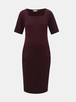 Fialové tehotenské šaty Dorothy Perkins Maternity