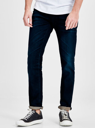 Tmavomodré slim fit rifle Jack & Jones Tim Classic