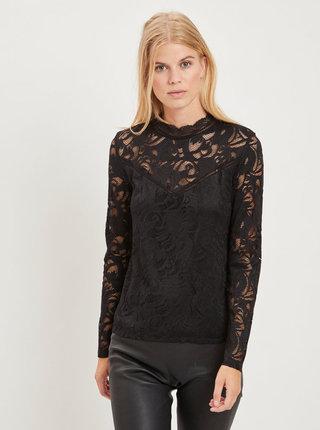 Bluza neagra cu dantela VILA Stasia