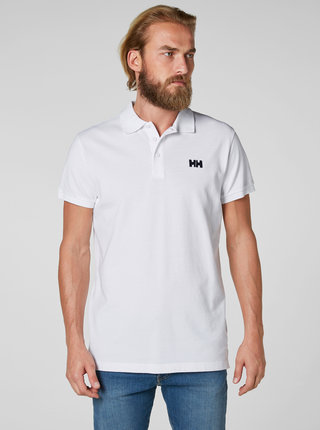 Tricou polo barbatesc alb regular fit cu broderie HALLY HANSEN