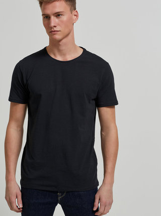 Tricou negru basic Selected Homme Pima