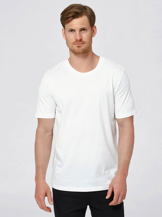 Tricou alb din bumbac Selected Homme The Perfect