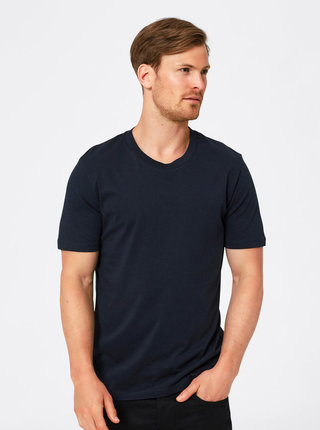 Tricou basic bleumarin din bumbac Pima - Selected Homme The Perfect