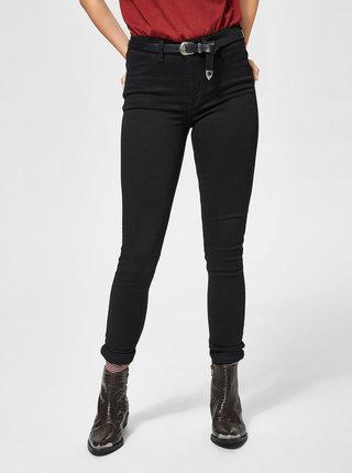 Černé jeggings skinny džíny Selected Femme Gaia