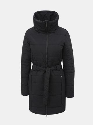 Černý dámský voděodpudivý zimní kabát se zavazováním LOAP Tudora