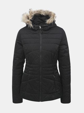 Černá dámská zimní voděodpudivá bunda s odnímatelným kožíškem na kapuci LOAP Tiara