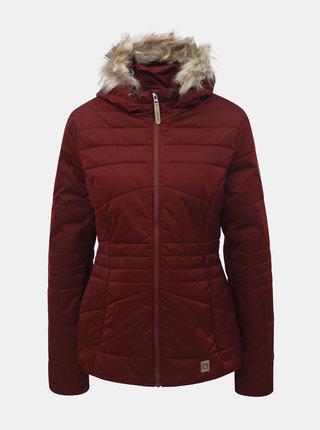 Jacheta bordo impermeabila de dama de iarna cu blana detasabila pe gluga LOAP Tiara