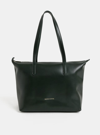 Tmavě zelená kožená kabelka Smith & Canova
