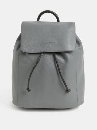 Světle šedý kožený batoh Smith & Canova