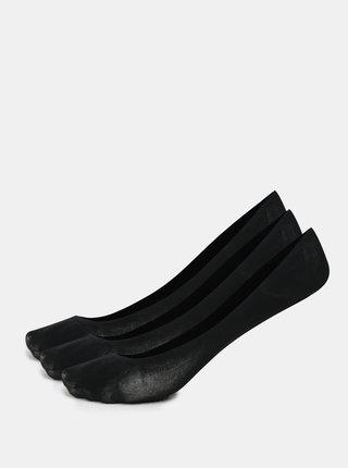 Kolekcia troch párov nízkych ponožiek v čiernej farbe Bellinda