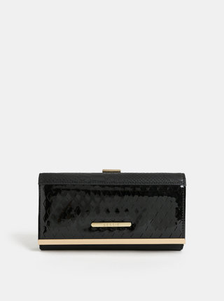 Čierna veľká peňaženka s detailmi v zlatej farbe Bessie London