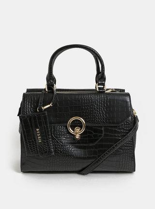 Čierna kabelka so zvieracím vzorom a odnímateľným puzdrom Bessie London