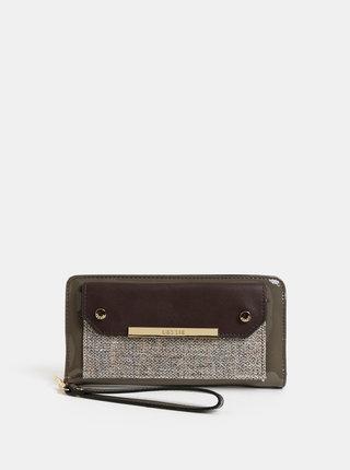 Hnedá veľká peňaženka s odnímateľným pútkom Bessie London