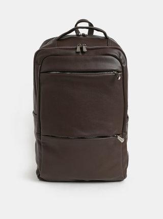 Tmavohnedý batoh na notebook Bobby Black