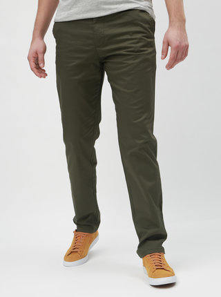 Pantaloni kaki slim cu curea Selected Homme Yard