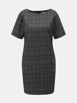 Sivé kárované šaty s vreckami Apricot