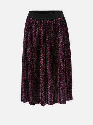 Růžovo-modrá vzorovaná plisovaná sukně VERO MODA Kiss