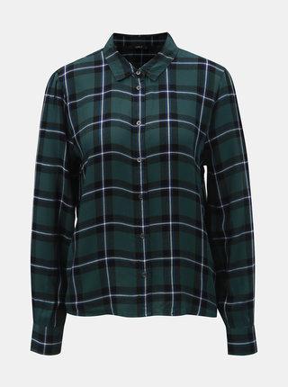 Čierno–zelená károvaná košeľa ONLY