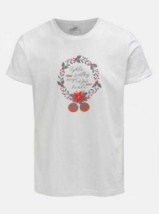 Biele pánske tričko s potlačou ZOOT Original Svátky mají koule