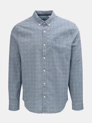 Modrá kostkovaná košile s náprsní kapsou Original Penguin