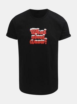 Tricou barbatesc negru cu imprimeu ZOOT Original What about snow