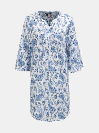 Modro-bílá květovaná noční košile Lauren Ralph Lauren