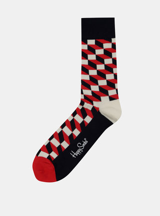Sosete pentru barbati Happy Socks Filled Optic cu imprimeu