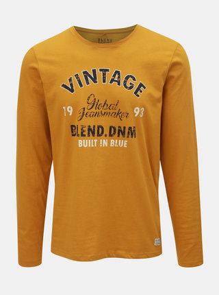 Tricou mustar cu inscriptie Blend