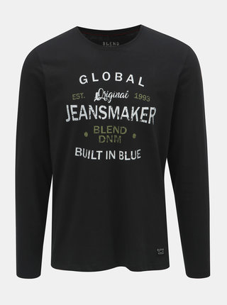 Tricou negru cu inscriptie Blend