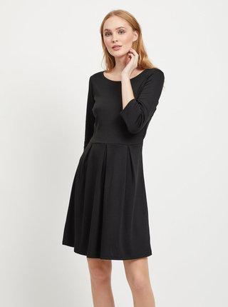 Čierne šaty s 3/4 rukávom VILA Tinny