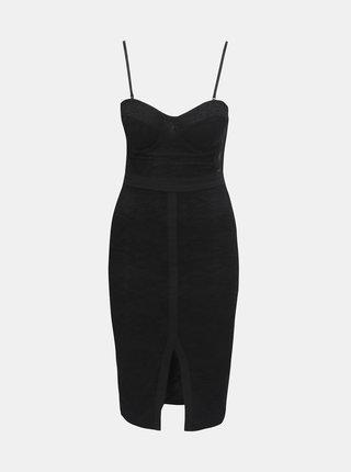 Čierne čipkované šaty s odnímateľnýmí ramienkami TALLY WEiJL