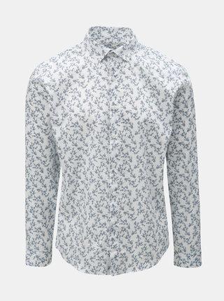Modro-bílá květovaná košile s dlouhým rukávem Lindbergh