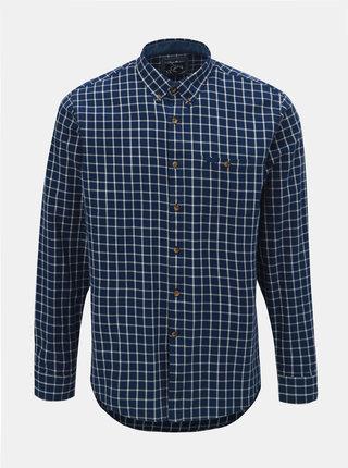 Tmavě modrá kostkovaná košile Raging Bull