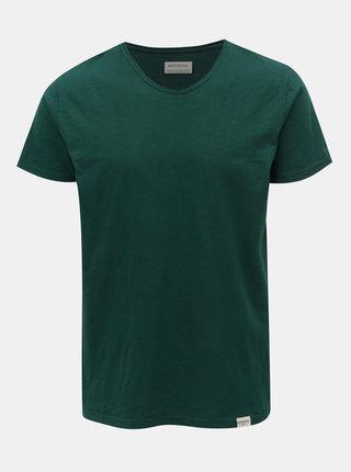 Tricou verde inchis cu maneci scurte Shine Original