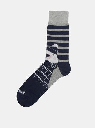 Tmavě modré ponožky s motivem medvěda Fusakle Polar Maco