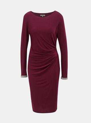 Vínové šaty s riasením na boku Billie & Blossom by Dorothy Perkins Tall