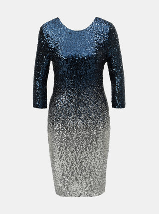 Rochie albastru inchis cu paiete si efect ombre Dorothy Perkins Petite