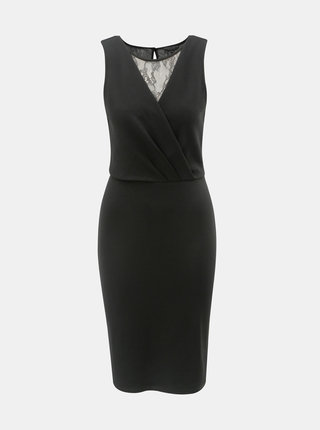 Čierne šaty s čipkou Dorothy Perkins