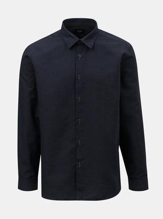 Tmavomodrá formálna vzorovaná košeľa Burton Menswear London