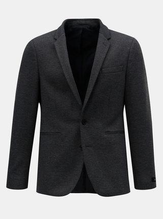 Sivé melírované oblekové sako Burton Menswear London