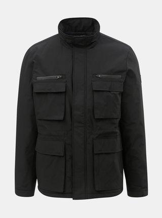 Čierna zimná bunda s vreckami Burton Menswear London