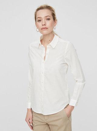 Krémová košile s dlouhým rukávem VERO MODA Eia