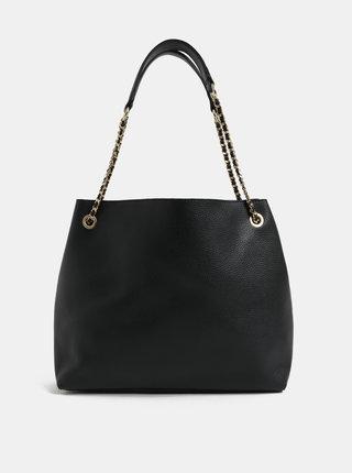 Čierna kabelka s detailmi v zlatej farbe Miss Selfridge