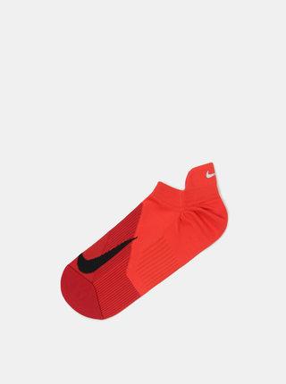 Červené unisex členkové funkčné ponožky Nike Elite Lightweight