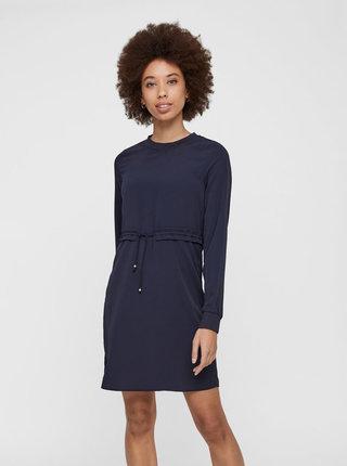 Tmavě modré šaty se stahováním v pase Noisy May Monty